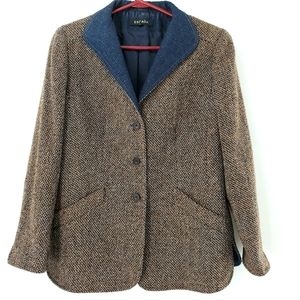 Escada blazer 38 tweed texture wool blend